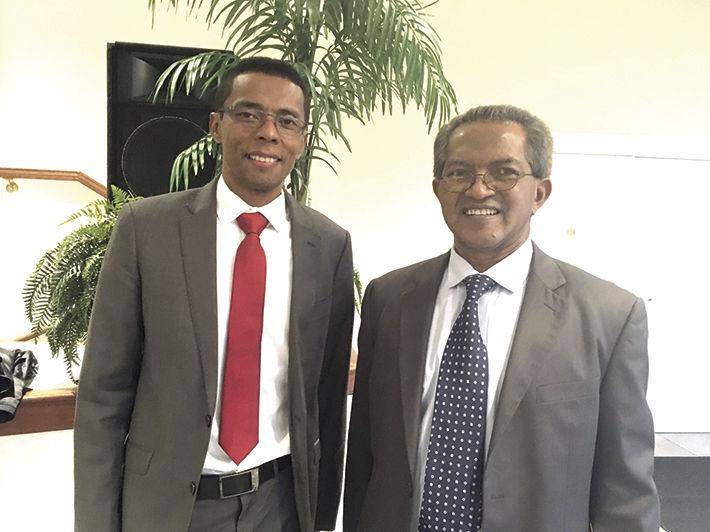 Ambassador Eric Robson & Dr. Adrien M. Ratsimbaharison