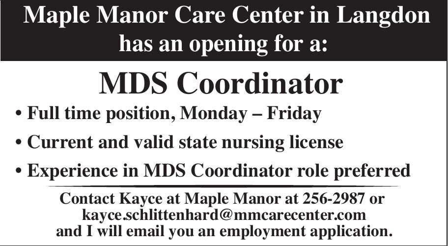 MMCC-MDS wanted