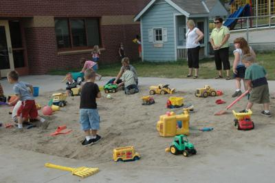 In 2009: New Lincoln School shed big enough for all of preschoolers' toys