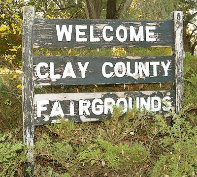 Clay County Fairgrounds Sign