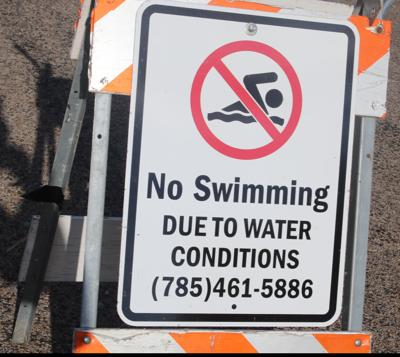No Swimming due to water condition