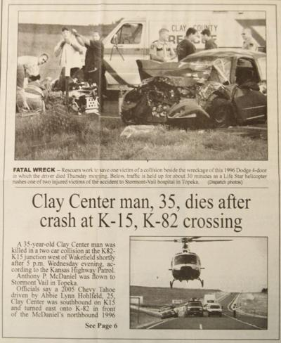 10 YEARS AGO ON AUGUST 28: Clay Center man dies after crash