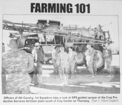 10 YEARS AGO ON FEBRUARY 9: Soldiers learn about agriculture