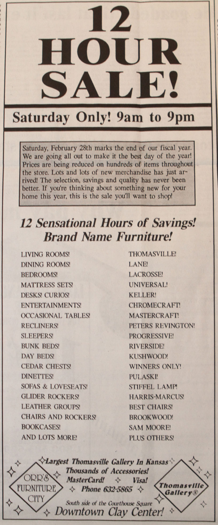 20 YEARS AGO ON FEBRUARY 28: (AD): 12 Hour Sale Today