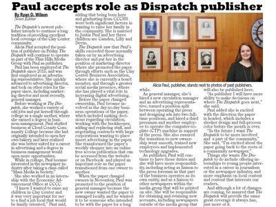 Paul accepts role as Dispatch publisher