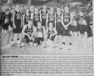 10 Years Ago On January 25 Tiger Boys Place 2nd At Salina