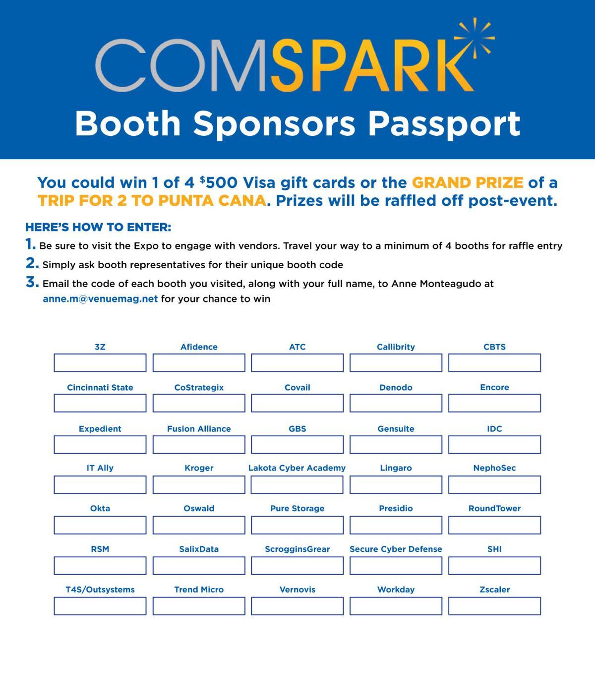 Comspark Booth Sponsors Passport