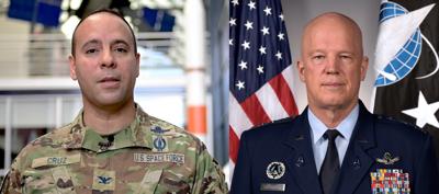 Col. Miguel A. Cruz and Gen. John W. Raymond