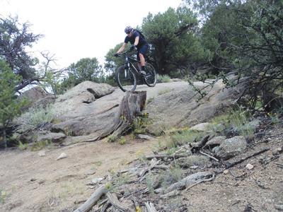 Wygant on his mountain bike