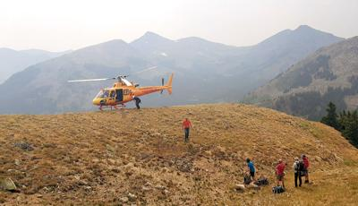 Flight For Life on Mount Yale