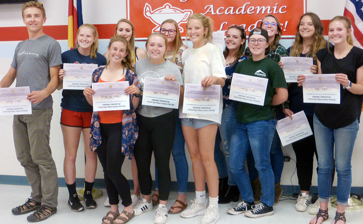 Seniors recognized during the Fall 2019 Academic Awards