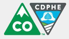 CDPHE logo public health