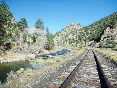 Railroad tracks through Browns Canyon