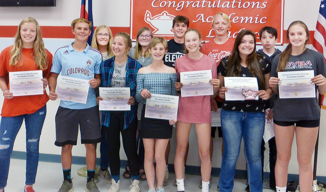 Sophomores recognized during the Fall 2019 Academic Awards