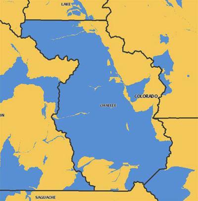 Chaffee County map