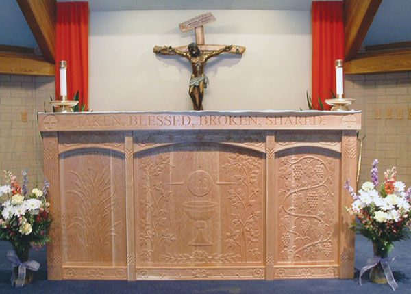Altar in St. Rose of Lima Catholic Church