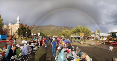 Rainbow at 2018 dinner