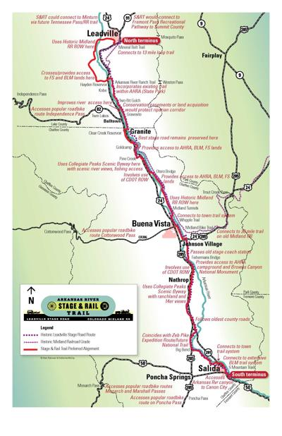 Revised Stage and Rail Trail map