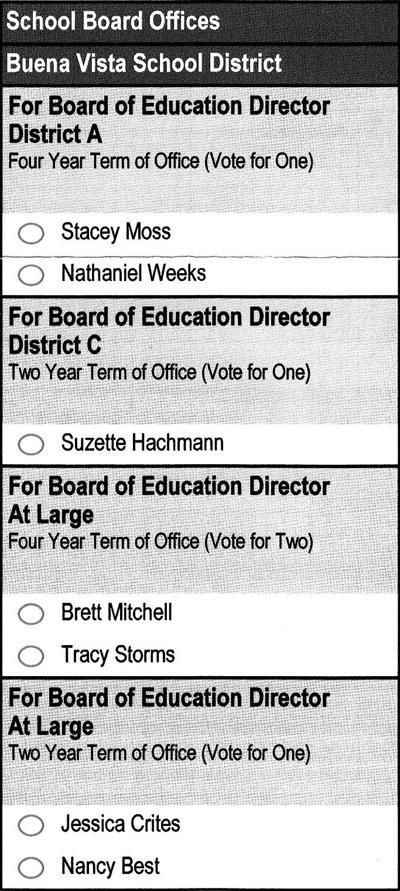 2019 school board ballot