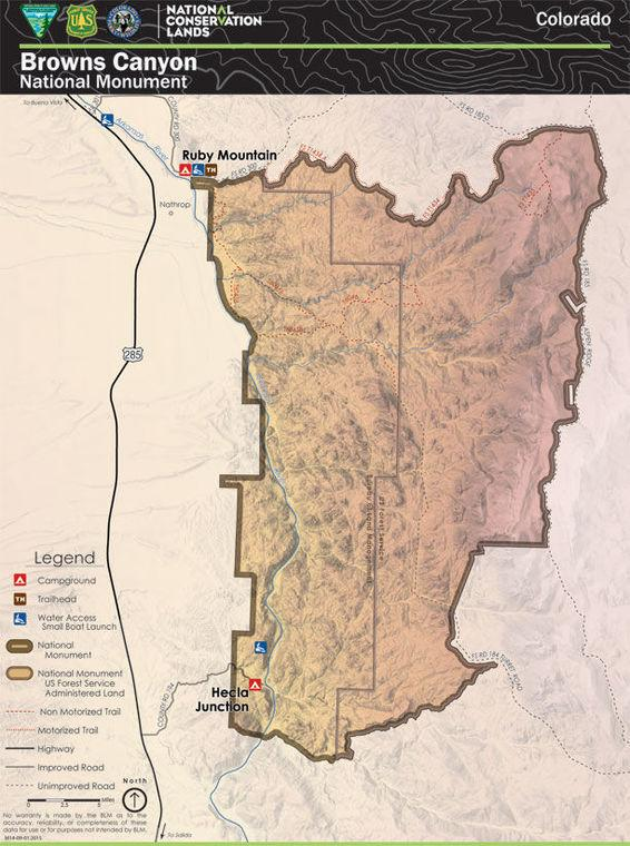The newest map of Browns Canyon National Monument - The Chaffee ...