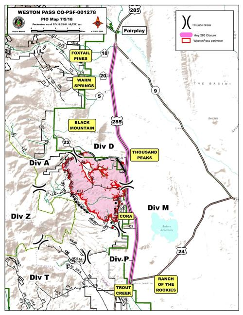Weston Pass Fire Map Weston Pass Fire map | | chaffeecountytimes.com