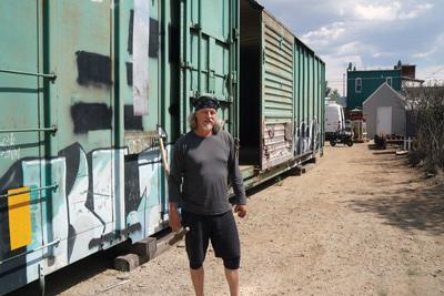 Traincar house derailed by rising property values | News ... on cardboard box home designs, container home designs, carriage home designs, train car home designs, rail car dock designs,