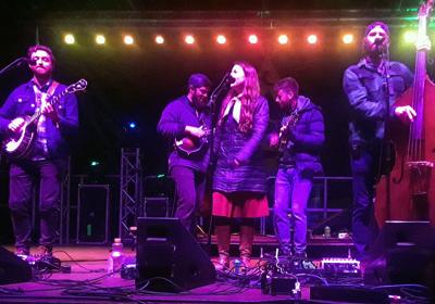Lindsay Lou sings with Trout Steak