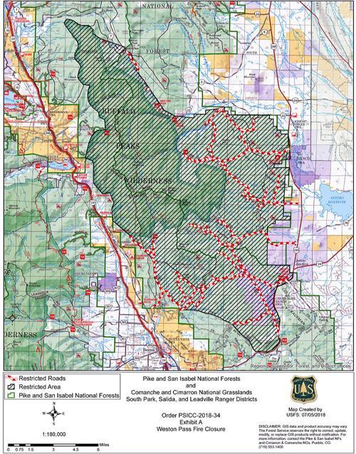 Weston Pass Fire Closure Map Chaffeecountytimes Com