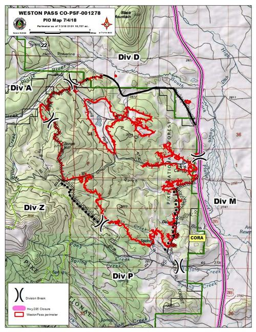 Weston Pass Fire Map Weston Pass Fire map 7.4.18 | | chaffeecountytimes.com