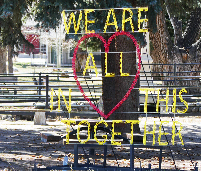 All in this together sign