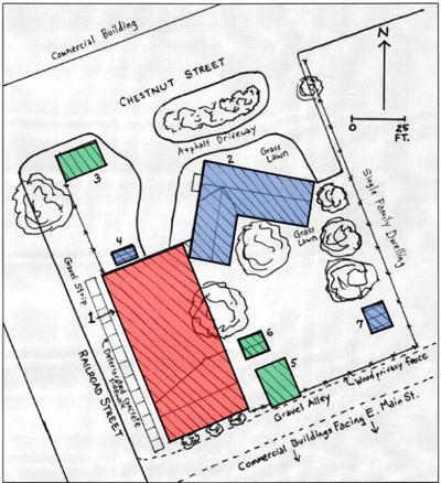 Depot building map