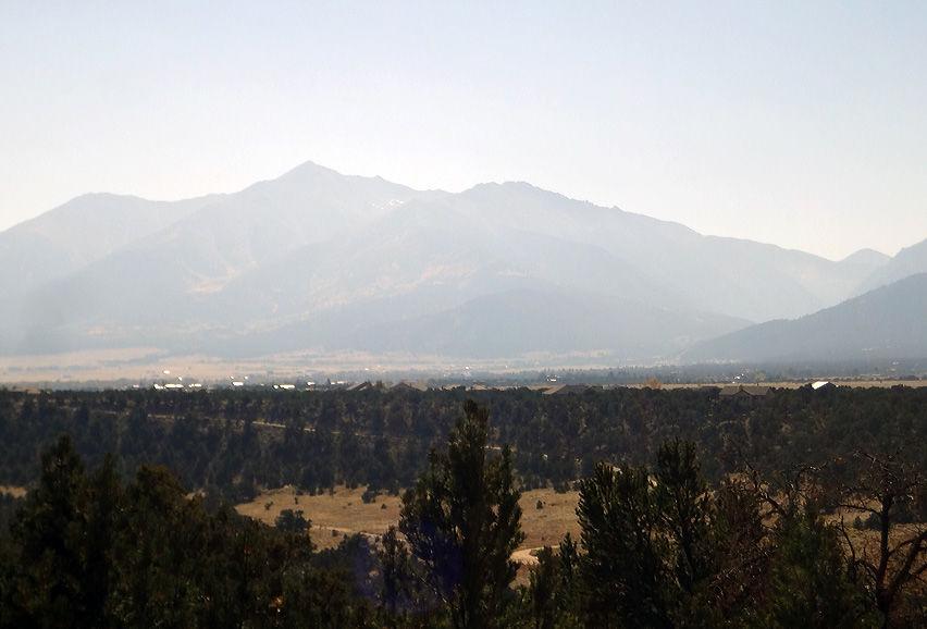 Mount Princeton smoky haze