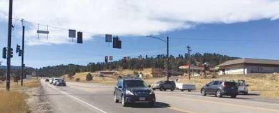 U.S. Highway 285 at Park County Road 43A stoplight