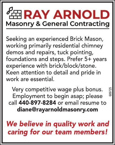 Help Wanted - Mason