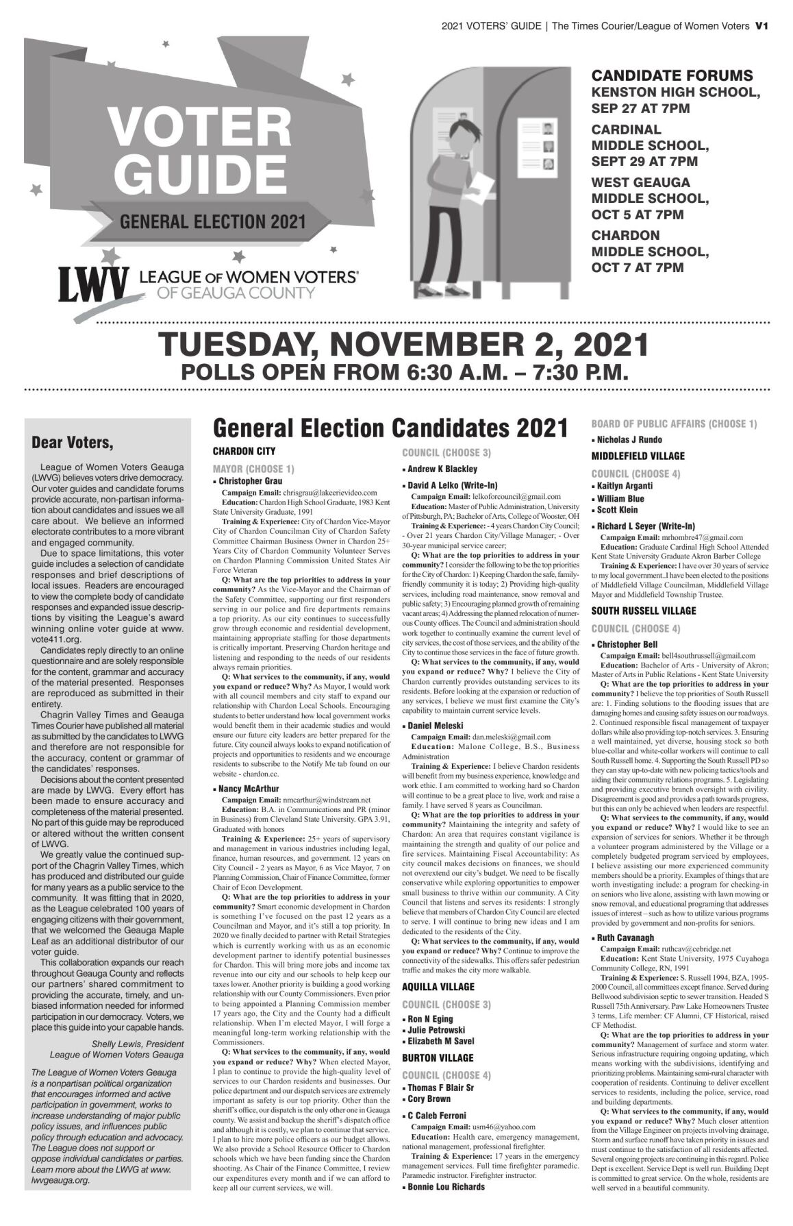 LVW - 2021 Election Guide