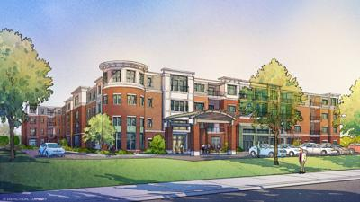 Rendering of the $30 million senior living project