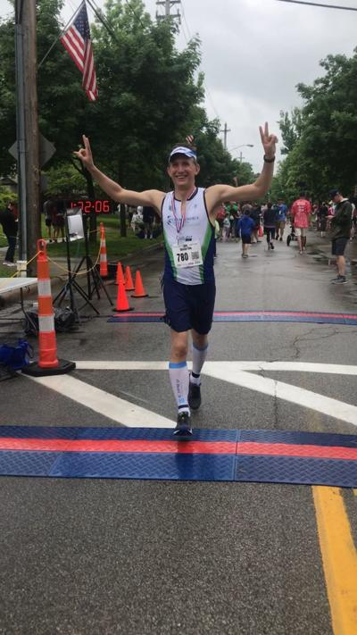 Dr. Wiley crosses finish line