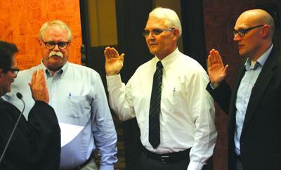Commissioners sworn in