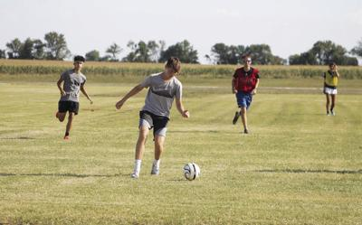 Soccer scrimmage