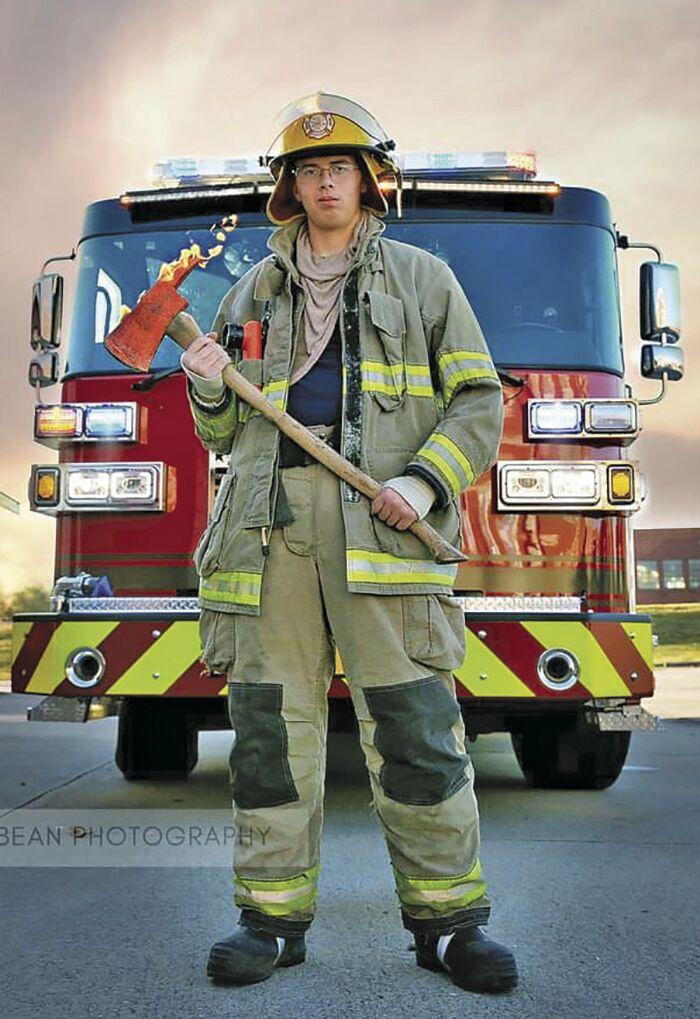 Firefighter intern Dylan Lowry