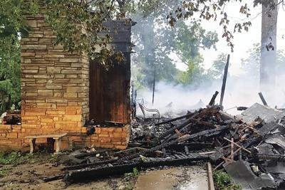 Thayer home destroyed
