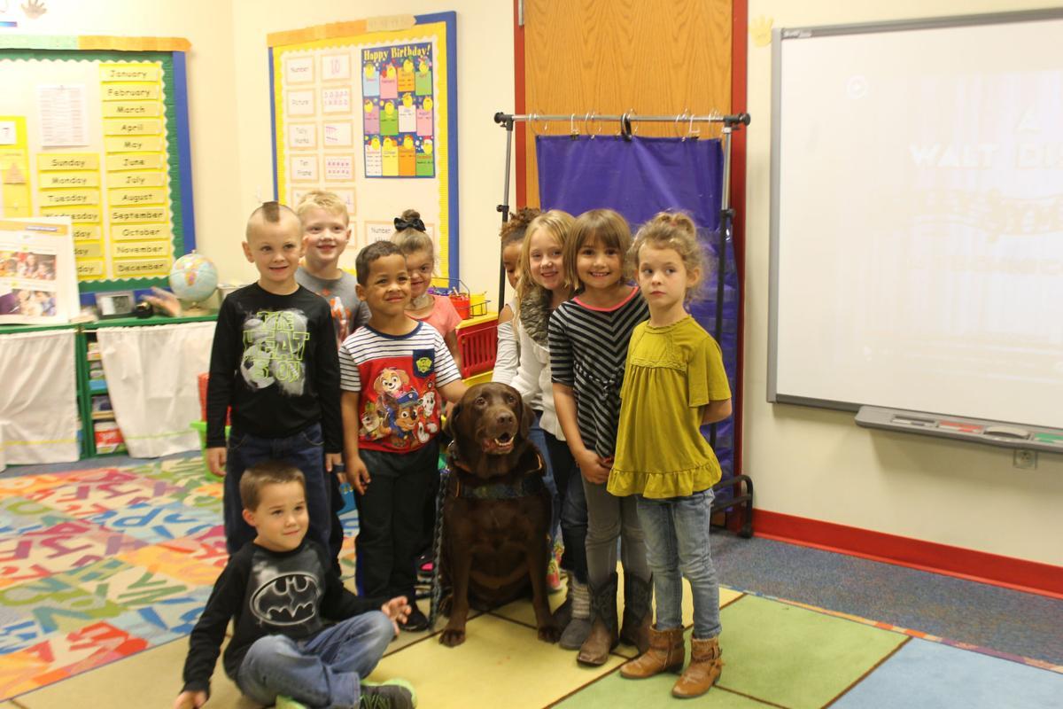 Benjamin with kindergarteners