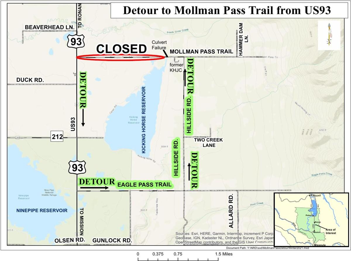 Mollman Pass Road closed