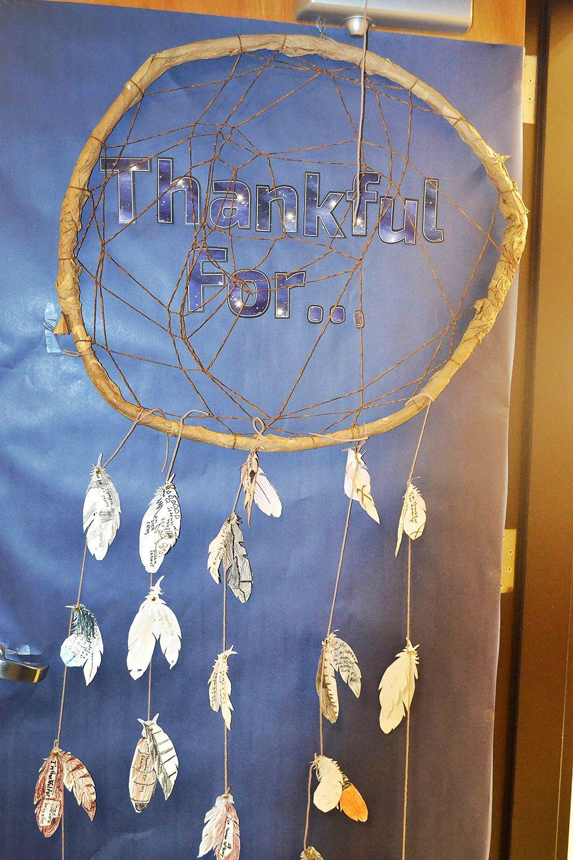 Students decorate classroom doors