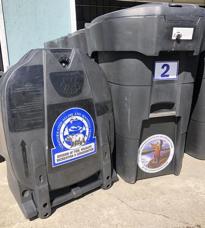 Bear resistant garbage containers