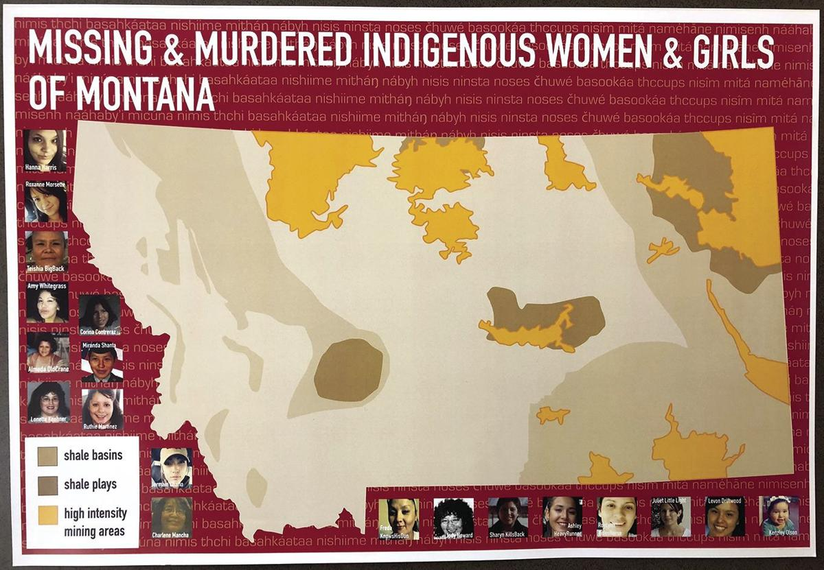 Map for missing and murdered indigenous women and girls