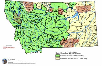 Montana water basins