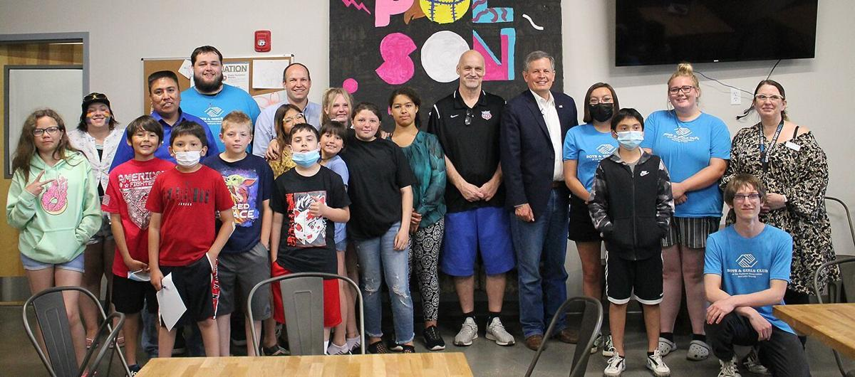 Staff and members of the Boys and Girls Club