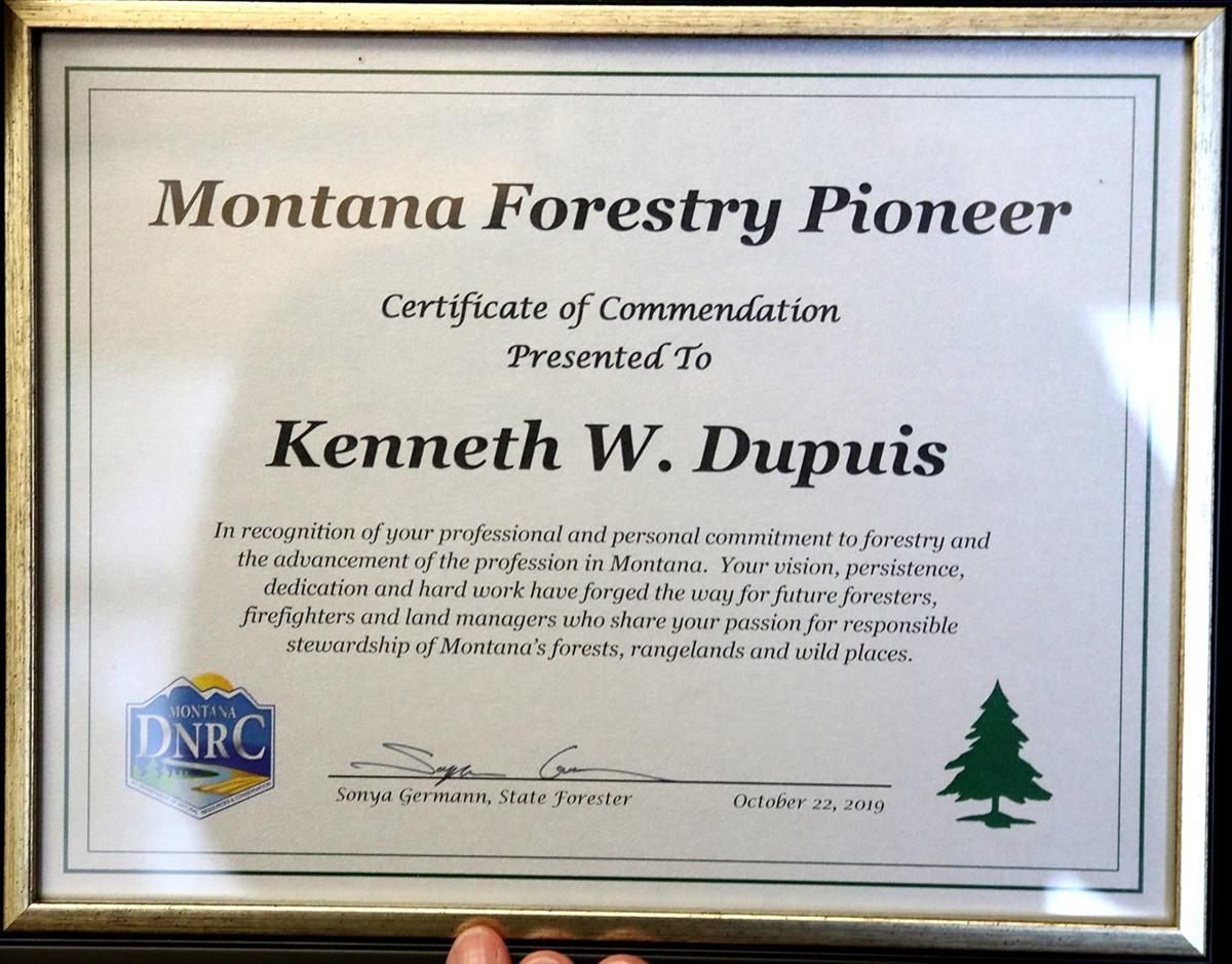 Montana Forestry Pioneer award