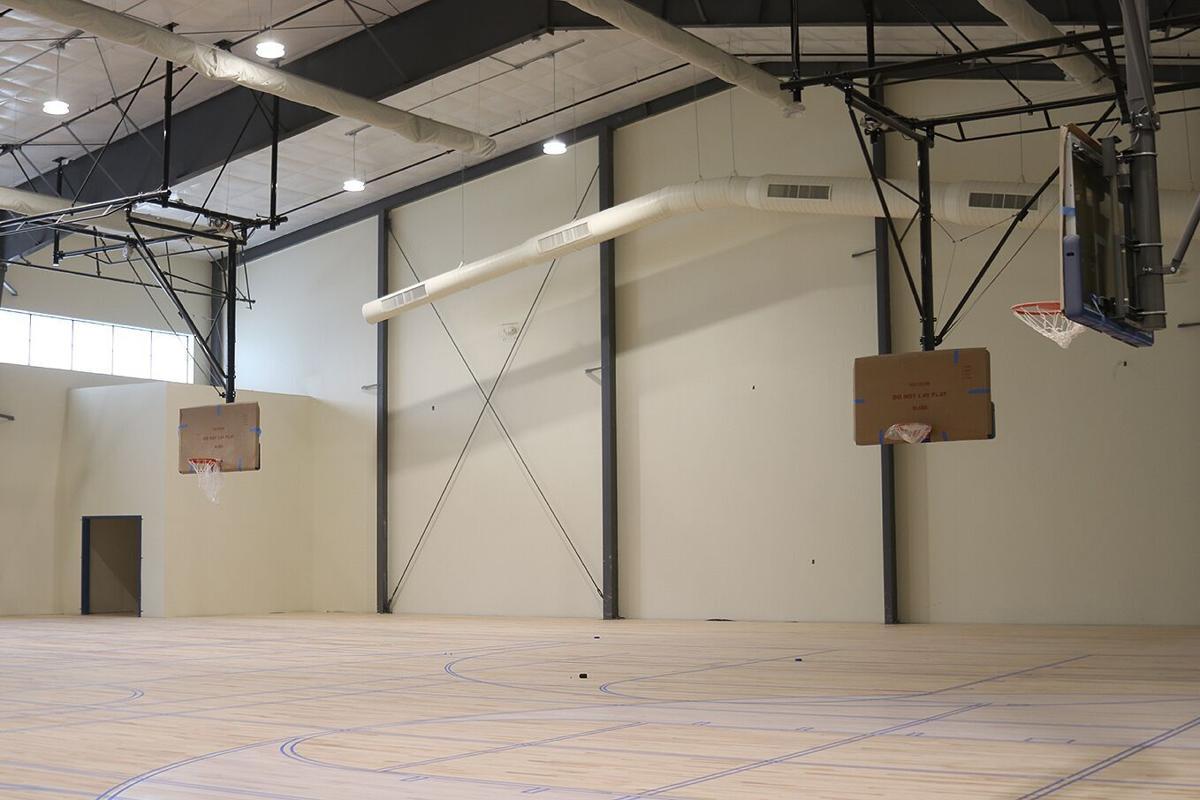 The new gymnasium floor